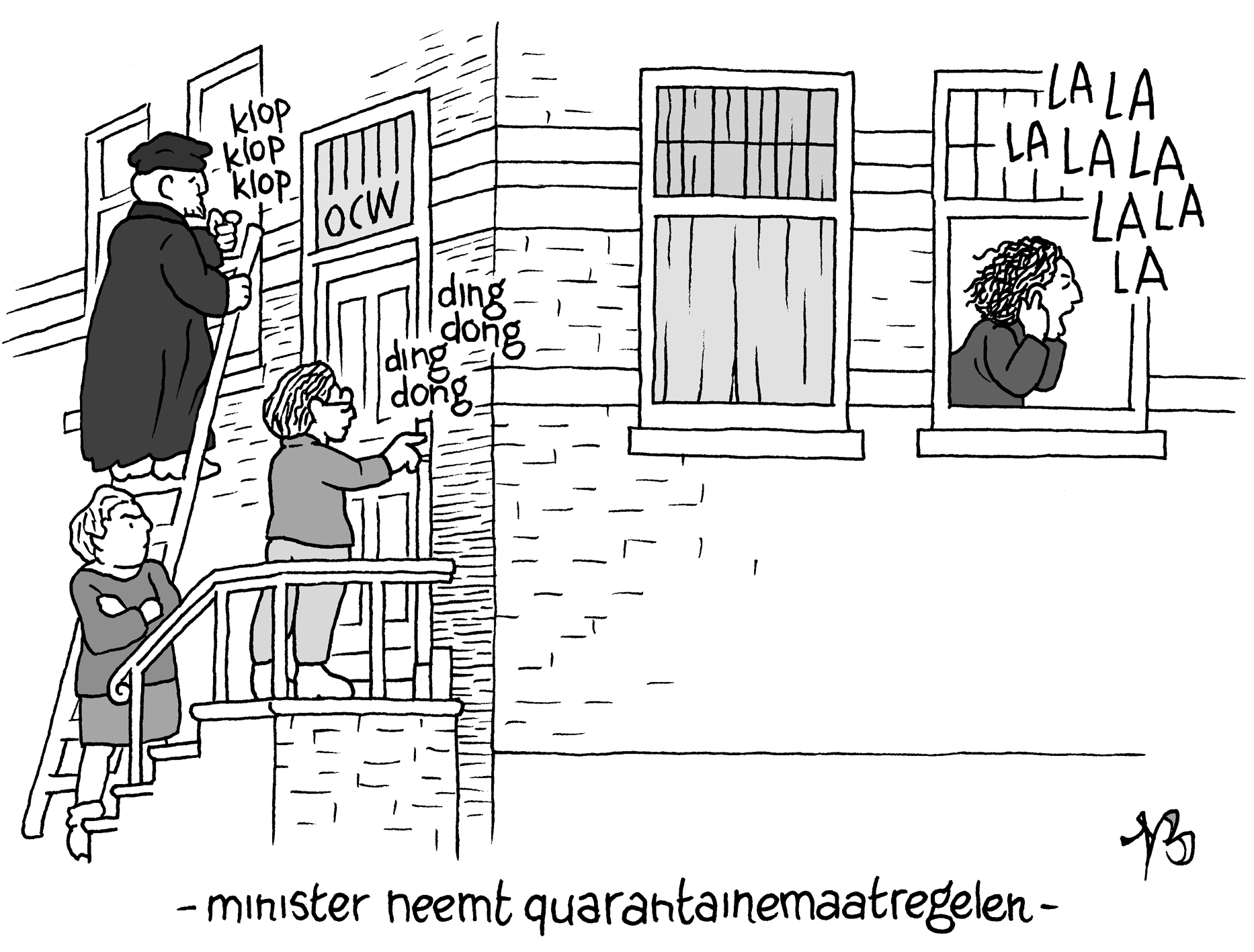 Cartoon Niels Bongers